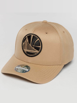 Mitchell & Ness Casquette Snapback & Strapback The Sand And Black 2-Tone NBA Golden State Warriors beige