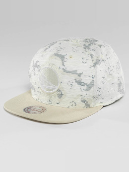 Mitchell & Ness Casquette Snapback & Strapback NBA Space Camo Golden State Warriors blanc
