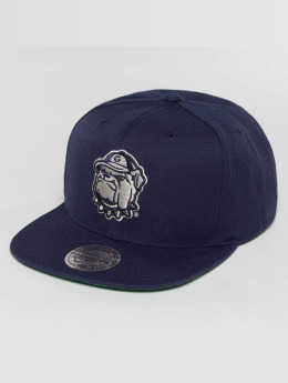 Mitchell & Ness Casquette Snapback & Strapback Wool Solid NCAA xXGeorge townXx bleu