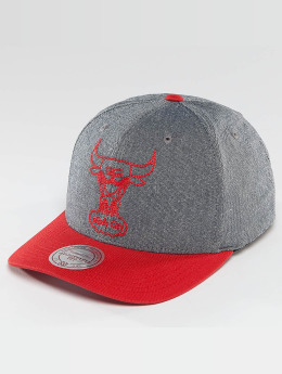 Mitchell & Ness Casquette Snapback & Strapback NBA Link Flexfit 110 Chicago Bulls gris
