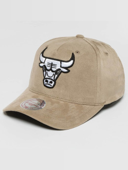 Mitchell & Ness Casquette Snapback & Strapback 110 Curved NBA Chicago Bulls Suede gris