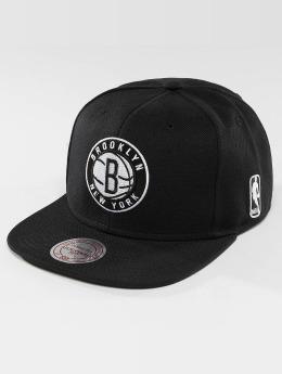Mitchell & Ness Casquette Snapback & Strapback Black & White Brookyln Nets noir