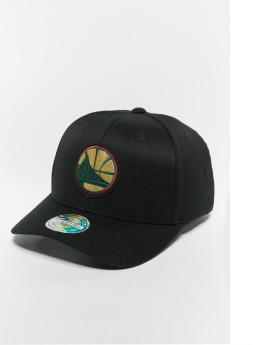 Mitchell & Ness Casquette Snapback & Strapback NBA Golden State Warriors Luxe 110 Curved noir