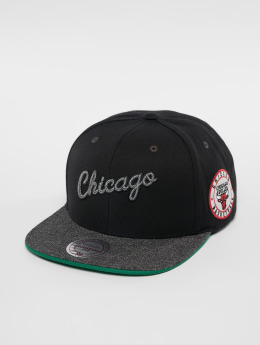 Mitchell & Ness Casquette Snapback & Strapback NBA Chicago Bulls Melange Patch noir