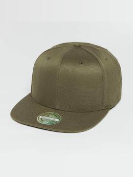 Mitchell & Ness Blank Flat Peak 110 Snapback Cap Olive