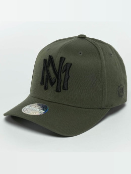 Mitchell & Ness Casquette Snapback & Strapback The Olive & Black 2 Tone Logo 110 olive