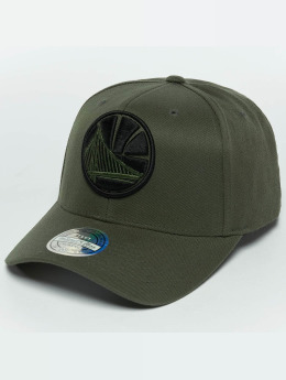 Mitchell & Ness The Olive & Black 2 Tone Logo 110 Golden State Warriors Snapback Cap Olive