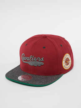 Mitchell & Ness Casquette Snapback & Strapback HWC Cleveland Cavaliers Melange Patch rouge