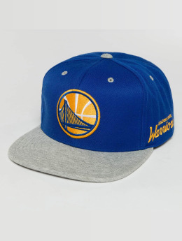 Mitchell & Ness The 2-Tone Grey Heather Arch-Bound Golden State Warriors Snapback Cap Royal/Grey Hea
