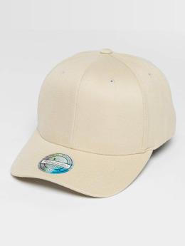 Mitchell & Ness Blank Flat Peak 110 Curved Snapback Cap Tan