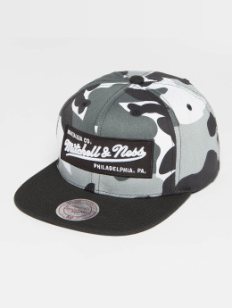 Mitchell & Ness Box Logo Snapback Cap Urban Camo/Black