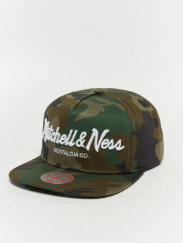 Mitchell & Ness Pinscript Snapback Cap Woodland Camo