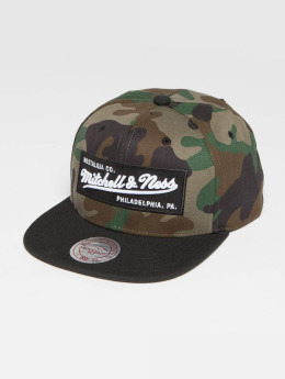 Mitchell & Ness Own Brand Box Logo Snapback Cap Wood Camo/Black