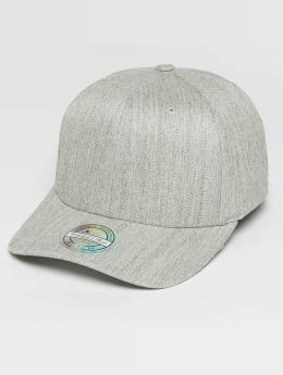 Mitchell & Ness Blank Flat Peak 110 Curved Snapback Cap Grey Melange