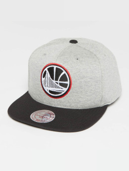 Mitchell & Ness The 3-Tone NBA Golden State Warriors Snapback Cap Grey Heather/Black/Red