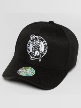 Mitchell & Ness Black And White Boston Celtics 110 Flexfit Snapback Cap Black