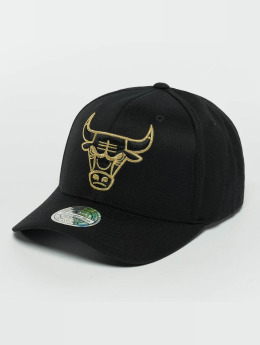 Mitchell & Ness The Black And Golden 110 Chicago Bulls Snapback Cap Black