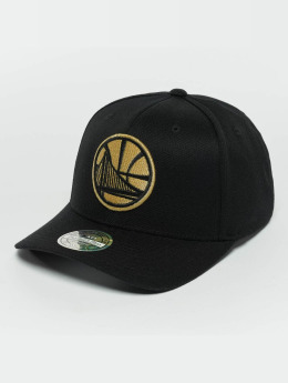 Mitchell & Ness The Black And Golden 110 Golden State Warriors Snapback Cap Black