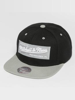 Mitchell & Ness Box Logo Snapback Cap Black/Grey