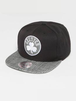 Mitchell & Ness Woven TC NBA Boston Celtics Snapback Cap Black/Grey