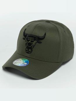 Mitchell & Ness The Olive & Black 2 Tone Logo 110 Chicago Bulls Snapback Cap Olive