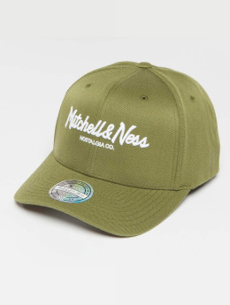 Mitchell & Ness Own Brand Pinscript High Crown 110 Snapback Cap Olive