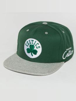 Mitchell & Ness The 2-Tone Grey Heather Arch-Bound Boston Celtics Snapback Cap Green/Grey Heather
