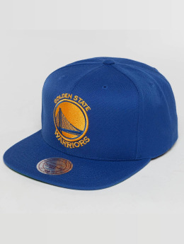 Mitchell & Ness Snapback Cap Wool Solid NBA Golden State blau