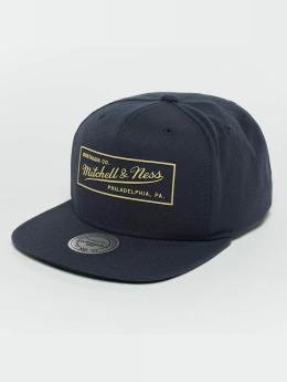 Mitchell & Ness Snapback Cap Raised Perimeter blau