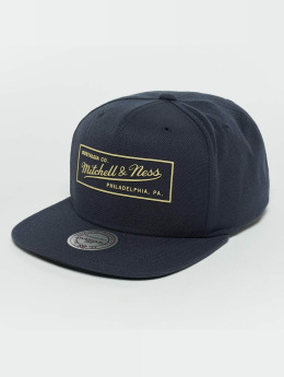 Mitchell & Ness Snapback Cap Raised Perimeter blue