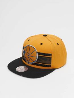 Mitchell & Ness Snapback Cap Woodland Golden State Warriors Covert gelb