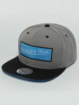 Mitchell & Ness Weekend 2 Flat Visor Snapback Cap Grey/Black