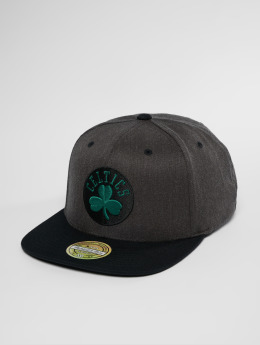 Mitchell & Ness NBA Bosten Celtics 2 Tone 110 Flat Snapback Cap Charcoal/Black