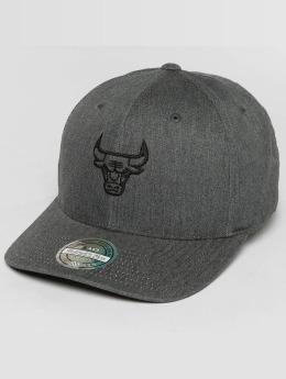 Mitchell & Ness Heather Melange Chicago Bulls 110 Flexfit Snapback Cap Grey
