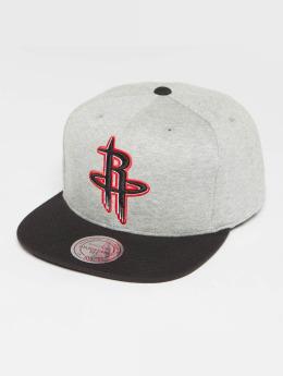 Mitchell & Ness The 3-Tone NBA Houston Rockets Snapback Cap Grey Heather/Black/Red