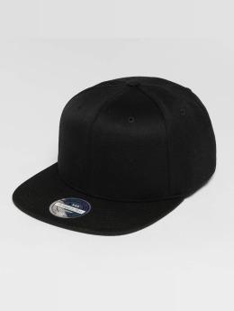 Mitchell & Ness Blank Flat Peak 110 Snapback Cap Black