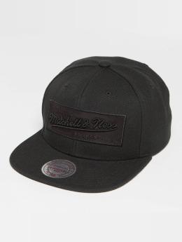 Mitchell & Ness Box Logo Snapback Cap Black
