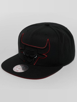 Mitchell & Ness Snapback Cap Raised Perimeter Chicago Bulls nero