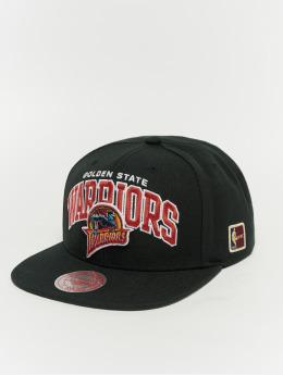 Mitchell & Ness Black Team Arch Golden State Warriors Snapback Cap Black