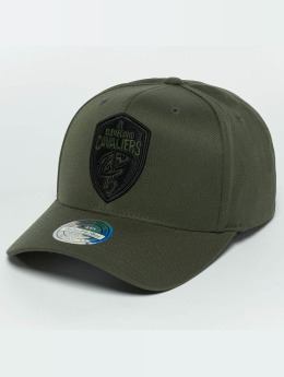 Mitchell & Ness The Olive & Black 2 Tone Logo 110 Cleveland Cavaliers Snapback Cap Olive