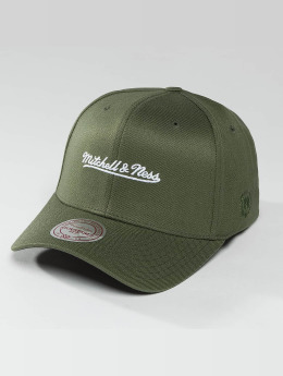 Mitchell & Ness Männer,Frauen Snapback Cap 110 The Camo & Suede in olive