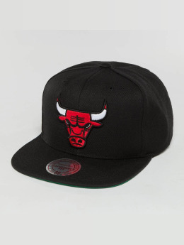 Mitchell & Ness Snapback Cap Wool Solid NBA Chicago Bulls schwarz