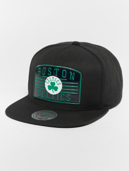 Mitchell & Ness Snapback Cap NBA Bosten Celtics Weald Patch schwarz