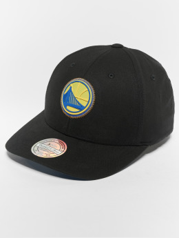 Mitchell & Ness NBA Golden State Warriors Biowashed Zig Zag 110 Curved Snapback Cap Black