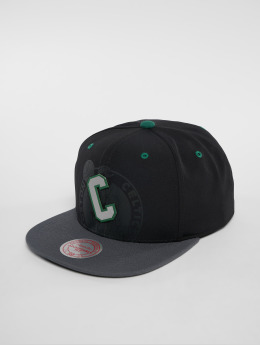Mitchell & Ness NBA Bosten Celtics Reflective 2 Tone Snapback Cap Black/Grey