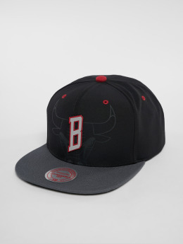 Mitchell & Ness NBA Chicago Bulls Reflective 2 Tone Snapback Cap Black/Grey