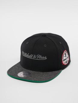 Mitchell & Ness Snapback Cap Own Brand Melange Patch schwarz