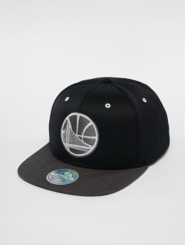 Mitchell & Ness Snapback Cap NBA Golden State Warriors Logo 110 Flat schwarz