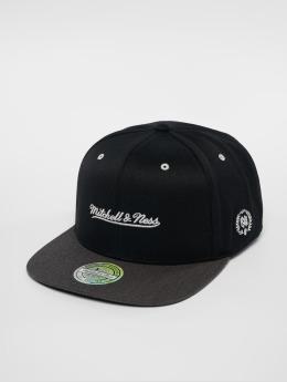 Mitchell & Ness Snapback Cap NBA Own Brand Logo 110 Flat schwarz