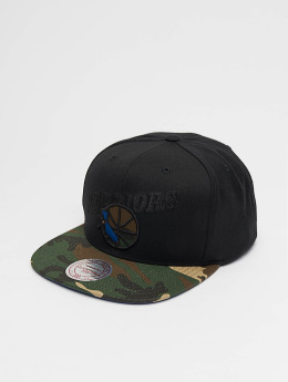 Mitchell & Ness Snapback Cap Woodland Golden State Warriors Blind schwarz